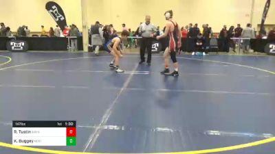 147 lbs Prelims - Roan Tustin, Waynesburg vs Kellen Buggey, North Allegheny