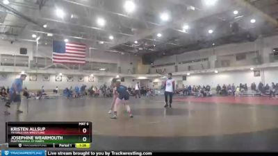 127 lbs Round 3 - Kristen Allsup, TN Girls USA Wrestling vs Josephine Wearmouth, Martensdale-St Marys