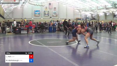 86 kg Consi Of 32 #1 - Logan Hall, Cleveland Falcon Wrestling vs Max Wohlabaugh, Clarion RTC
