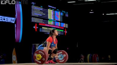 Ali Ludwig (USA, 90) Clean & Jerks 128kg At 2017 IWF Worlds