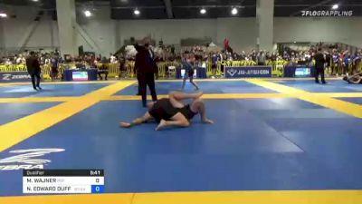 MATIAS WAJNER vs NICHOLAS EDWARD DUFFY 2021 American National IBJJF Jiu-Jitsu Championship