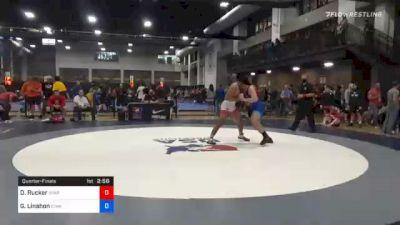 97 kg Quarterfinal - Deandre Rucker, Spartan Mat Club vs Gage Linahon, Iowa