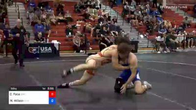 86 kg Prelims - Christopher Foca, Spartan Combat RTC vs Myles Wilson, Hawkeye Wrestling Club