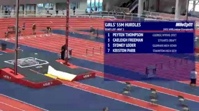 High School Girls' 55m Hurdles, Finals 3