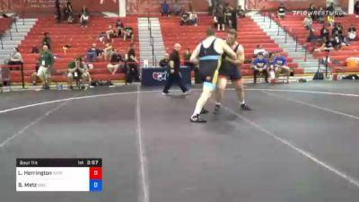 130 kg Semifinal - Lee Herrington, Nebraska Golden Eagles Wrestling Club vs Brandon Metz, Bison Wrestling Club