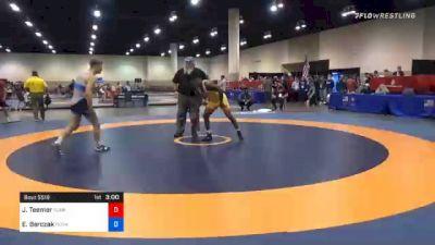 74 kg 5th Place - Jacori Teemer, Sunkist Kids Wrestling Club vs Evan Barczak, Pennsylvania RTC
