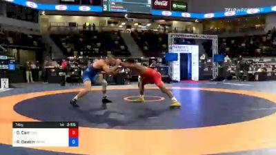 74 kg 5th Place - David Carr, Cyclone Regional Training Center C-RTC vs Ryan Deakin, TMWC / Wildcat Wrestling Club