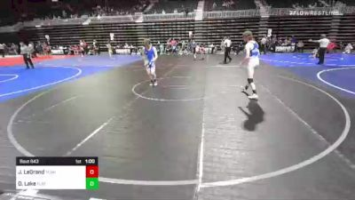 123 lbs 2nd Place - Joseph LeGrand, Team Pueblo vs Dane Lake, Flathead Valley WC