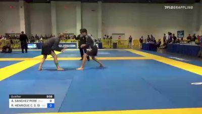 ALAN SANCHEZ PEREZ vs RHENAN HENRIQUE C. S. SILVA 2021 American National IBJJF Jiu-Jitsu Championship