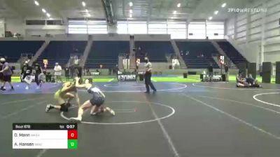 132 lbs 2nd Place - Dylan Mann, Warhawks vs Aidan Hansen, Vandals Elite