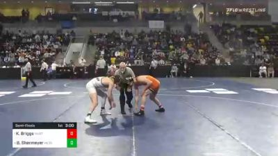 174 lbs Semifinal - Kyle Briggs, Wartburg College vs Brian Shermeyer, Messiah University