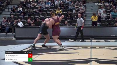 285 lbs Final - Matt Stencel, Central Michigan vs Mason Parris, Michigan