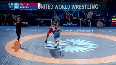 97 kg 1/2 Final - Mojtaba Goleij, Iran vs Kyle Snyder, United States