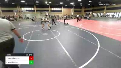 120 lbs 3rd Place - Jose Gonzales, Team Weeb vs Timothy Murabito, Bay Area Dragons