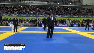 JOÃO GABRIEL BATISTA DE SOUSA vs LEONARDO FERNANDES SAGGIORO 2020 European Jiu-Jitsu IBJJF Championship