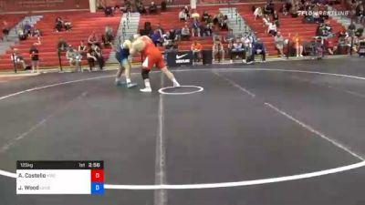 125 kg Consolation - Aaron Costello, Hawkeye Wrestling Club vs Jordan Wood, Lehigh Valley Wrestling Club