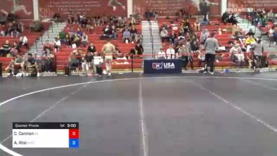 61 kg Quarterfinal - Chris Cannon, New Jersey vs Angelo Rini, New York City RTC