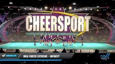 MGA Cheer Extreme - Infinity [2021 L1 Junior - D2 - Small - B Day 2] 2021 CHEERSPORT National Cheerleading Championship