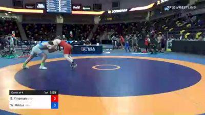 92 kg Consolation - Beau Yineman, Wisconsin vs Willie Miklus, Michigan Wrestling CLub