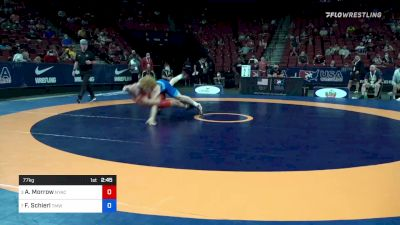 77 kg Quarters - Austin Morrow, New York Athletic Club vs Fritz Schierl, Titan Mercury Wrestling Club