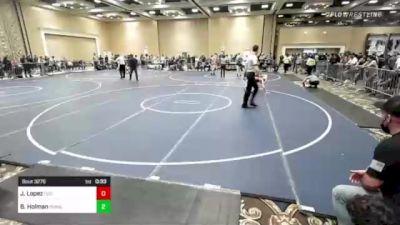 109 lbs Consi Of 16 #2 - Jobe Lopez, Dog Pound Wrestling vs Bailey Holman, Poway Elite