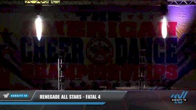 Renegade All Stars - Fatal 4 [2021 L4 Senior - D2 - Small Day 2] 2021 The American Celebration DI & DII