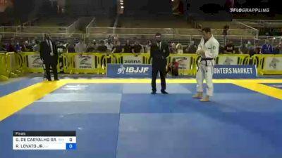 GREGOR DE CARVALHO RANGEL GRACIE vs RAFAEL LOVATO JR. 2020 World Master IBJJF Jiu-Jitsu Championship