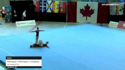 Partington / Partington / Livingston - Group, Gymnastes de l'Ile - 2019 Canadian Gymnastics Championships - Acro
