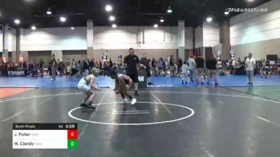 92 lbs Semifinal - Josiah Puller, Ohio vs Matthew Claridy, Icon Wrestling