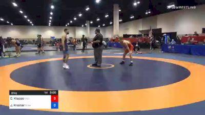61 kg Consolation - Charles Klepps, Cyclone Regional Training Center C-RTC vs Josh Kramer, Sunkist Kids Wrestling Club