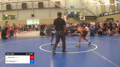 61 kg Semifinal - Josh Kramer, Sunkist Kids Wrestling Club vs Micky Phillippi, Pittsburgh Wrestling Club