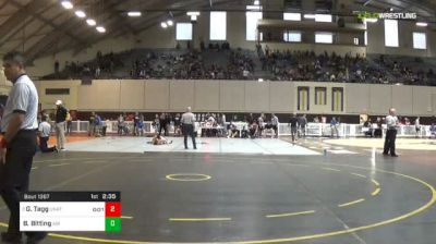 141 lbs Semifinal - Gabe Tagg, Unattached vs Bradley Bitting, Air Force