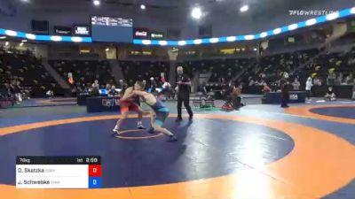 79 kg Prelims - Devin Skatzka, Gopher Wrestling Club - RTC vs Jacob Schwebke, Iowa