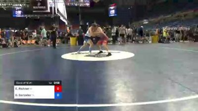 182 lbs Consi Of 16 #1 - Ethan Richner, Pennsylvania vs Gervacio Gonzalez, Tennessee
