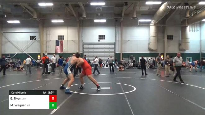 Consolation - Gavin Nye, Colorado State University - Pueblo vs Matt Wagner, Air Force