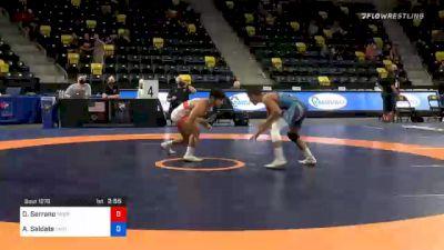 57 kg Consolation - Dominick Serrano, Nebraska Wrestling Training Center vs Antonio Saldate, Unattached