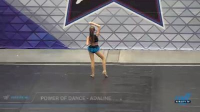 Power of Dance - Adaline Koehler [2021 Youth - Solo - Jazz Day 2] 2021 Badger Championship & DanceFest Milwaukee