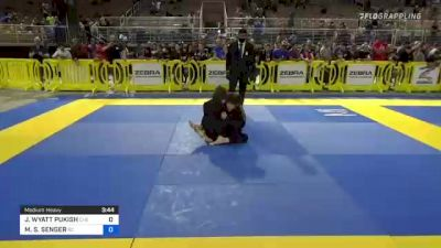 JAMES WYATT PUKISH vs MARCEL S. SENGER 2021 Pan Kids Jiu-Jitsu IBJJF Championship