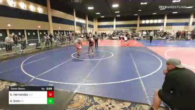 285 lbs Consolation - Alejandro Hernandez, Mat Warriors vs Anthony Solis, Rio Mesa