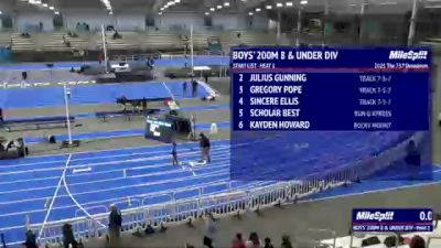 Youth Boys' 200m, Finals 1 - Age under 8