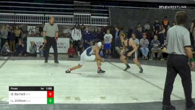 138 lbs Final - Beau Bartlett, Wyoming Seminary vs Lucas Chittum, Blair Academy