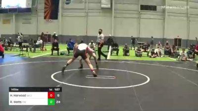 145 lbs Rr Rnd 3 - Hunter Harwood, Salem Elite vs Ryan Watts, The Club