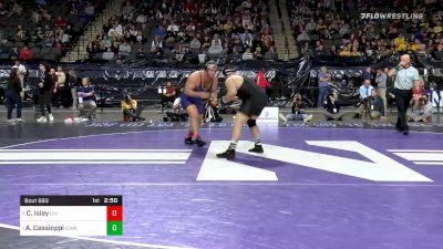 285 lbs Semifinal - Carter Isley, Northern Iowa vs Anthony Cassioppi, Iowa