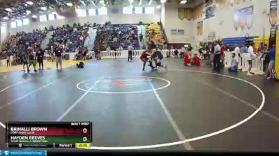 145 lbs Cons. Round 7 - Brinalli Brown, Port Saint Lucie vs Hayden Reeves, Team Wakulla Wrestling