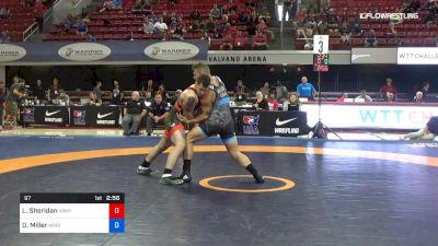 97 lbs Rr Rnd 3 - Lucas Sheridan, Army (WCAP) vs Daniel Miller, Marines