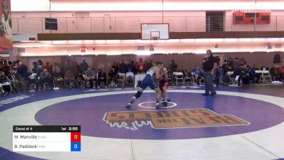 77 kg Consolation - Mason Manville, Nittany Lion Wrestling Club vs Burke Paddock, New York Athletic Club