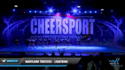 Maryland Twisters - Lightning [2021 L3 Senior - Medium Day 2] 2021 CHEERSPORT National Cheerleading Championship