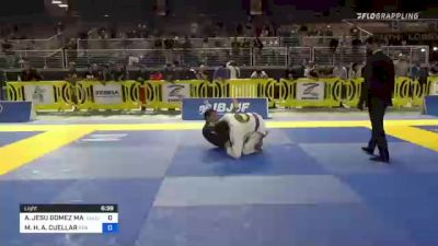 ALEXANDER JESU GOMEZ MARTINEZ vs MO'OLELE H. A. CUELLAR 2021 Pan Jiu-Jitsu IBJJF Championship