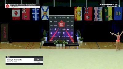 Jaedyn Andreotti - Ball, British Columbia - 2019 Canadian Gymnastics Championships - Rhythmic