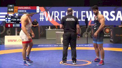 97kg Semi-Final - Mohammadhadi Saravi, IRI vs Arvi Savolainen, FIN